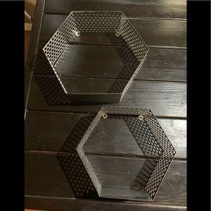 Metal Wall shelf's set of 2